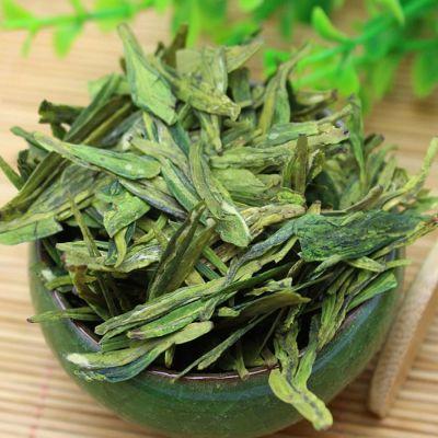新茶春茶西湖绿龙井茶叶雨前龙井绿茶豆香嫩绿型茶铁盒装1